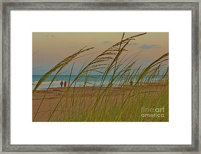 Sunset Stroll Framed Print