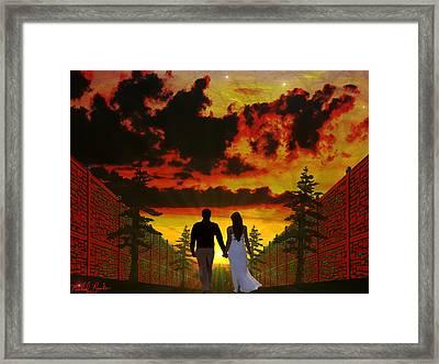 Sunset Stroll Framed Print by Michael Rucker