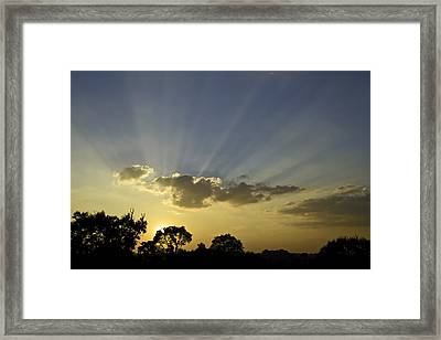Sunset Sunrays Framed Print