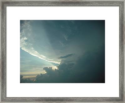 Sunset Supercell Framed Print by Ed Sweeney