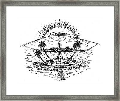 Sunset Surf Framed Print