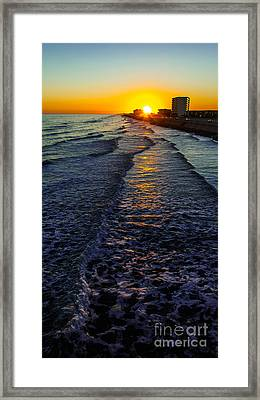 Sunset Surf Framed Print by Perry Webster