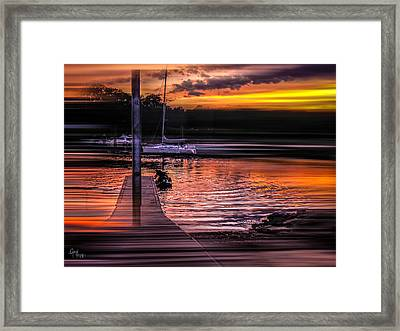 Framed Print featuring the photograph Sunset Swirl by Glenn Feron