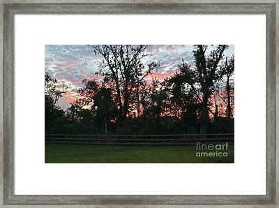 Sunset Texas Framed Print