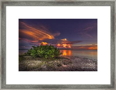 Sunset Thunder Storms Framed Print by Marvin Spates