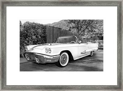 Sunset Thunderbird Bw Palm Springs Framed Print