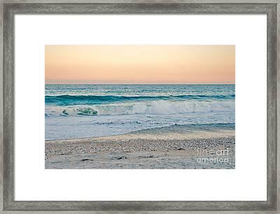 Sunset Tides Framed Print