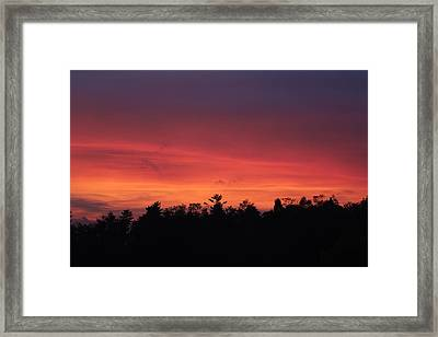 Sunset Tones Framed Print