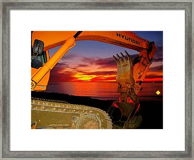 Sunset Tool Framed Print by John King