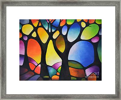 Sunset Trees Framed Print