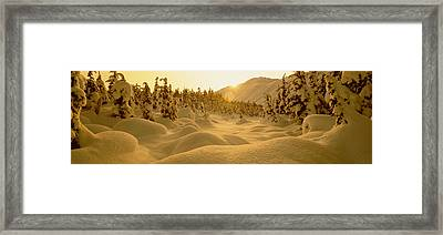 Sunset, Turnagain Pass, Alaska, Usa Framed Print by Panoramic Images