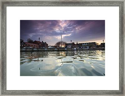 Sunset Up Main Street Framed Print