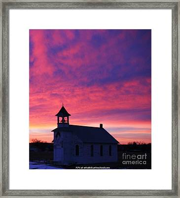 Sunset Upon Ons Kerkje Framed Print by PainterArtist FIN