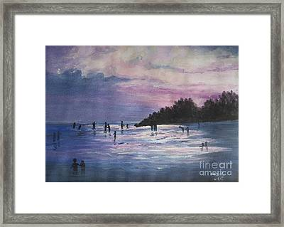 Sunset Framed Print by Usha Rai