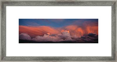Sunset Ut Usa Framed Print by Panoramic Images