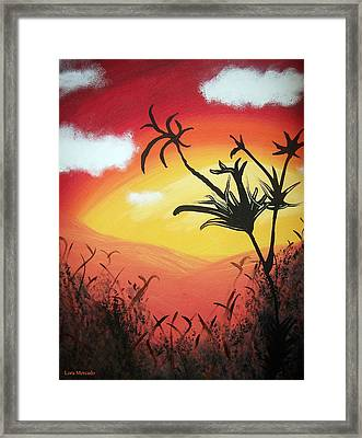 Sunset Valley Framed Print