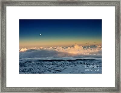 Sunset Very High Framed Print by Karl Voss