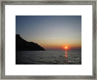 Framed Print featuring the photograph Sunset by Vicki Spindler