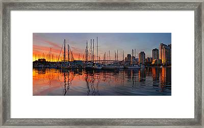 Framed Print featuring the photograph Sunset View From Charleson Park In Vancouver Bc by JPLDesigns