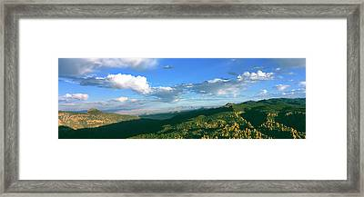 Sunset View From Massai Point Framed Print by Panoramic Images