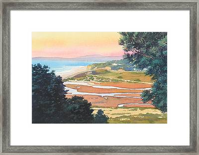Sunset View From Torrey Pines Framed Print by Mary Helmreich