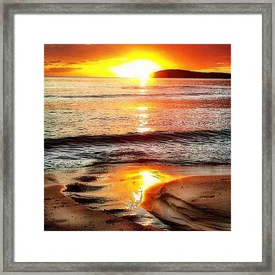 Sunset View Of Watch Ho - Square  Framed Print