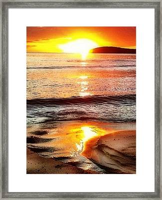 Sunset View Of Watch Ho - Vertical Framed Print