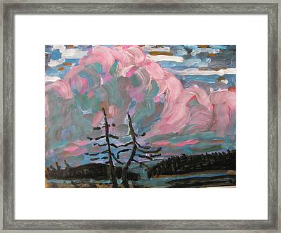 Framed Print featuring the painting Sunset by Vikram Singh