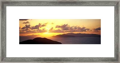 Sunset Virgin Gorda British Virgin Framed Print by Panoramic Images