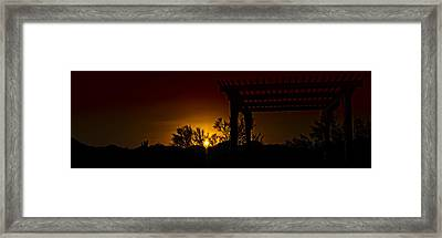 Sunset Vista Framed Print