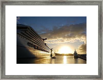 Sunset Voyage Framed Print
