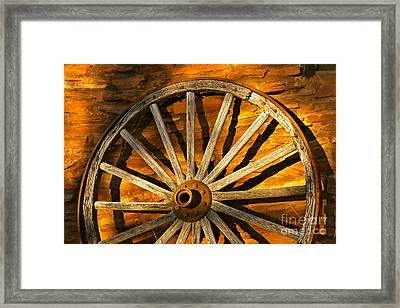 Sunset Wagon Wheel Framed Print by Michael Cinnamond