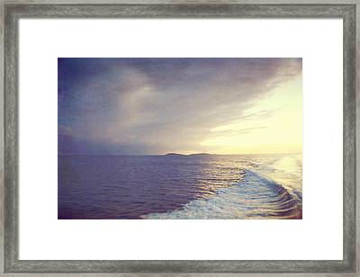 Sunset Wake Framed Print by Heather Green