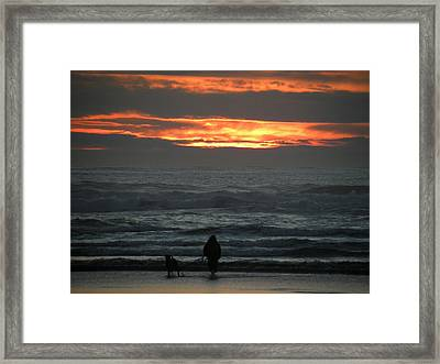 Sunset Walk Framed Print by David Quist