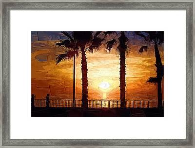 Sunset Walk Framed Print by Kirt Tisdale