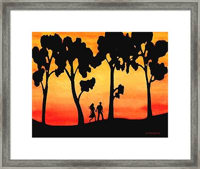 Sunset Walk Framed Print by Sophia Schmierer