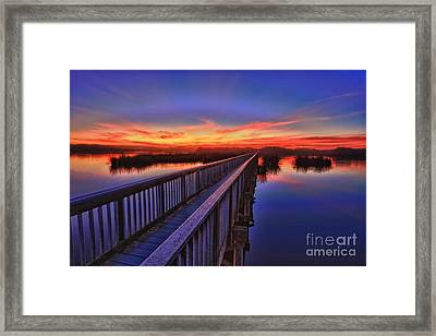 Sunset Walkway Framed Print by Beth Sargent