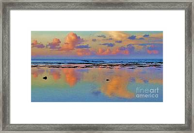 Sunset Water Color Framed Print by Michele Penner