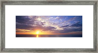 Sunset, Water, Ocean, Caribbean Island Framed Print by Panoramic Images