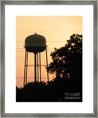 Sunset Water Tower Framed Print