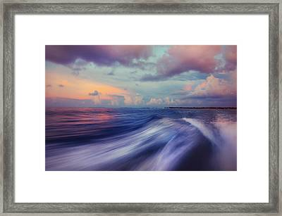 Sunset Wave. Maldives Framed Print by Jenny Rainbow