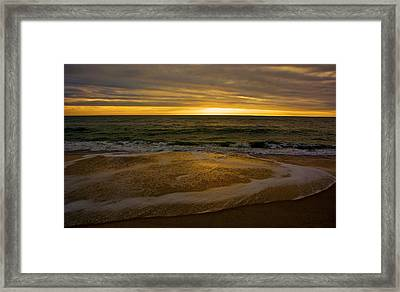 Sunset Waves Framed Print by Kathi Isserman