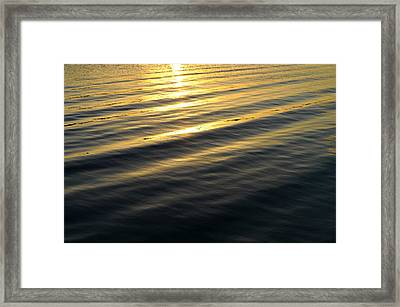 Sunset Waves Framed Print by Laura Fasulo