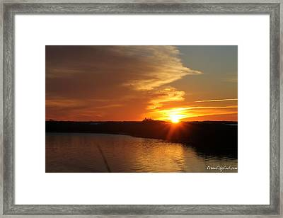 Framed Print featuring the photograph Sunset Wetlands by Robert Banach