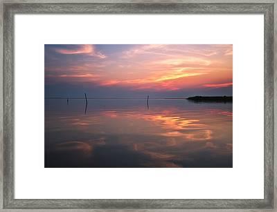 Sunset Whalehead Club Framed Print