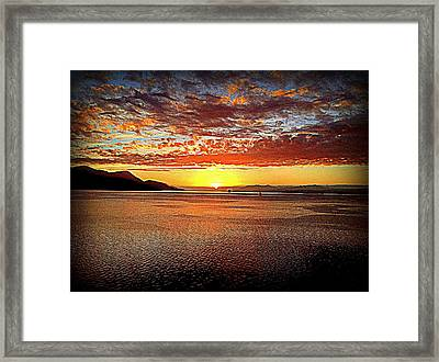 Sunset While Cruising The World Framed Print