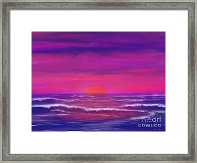 Sunset Winds Framed Print by Roxy Riou