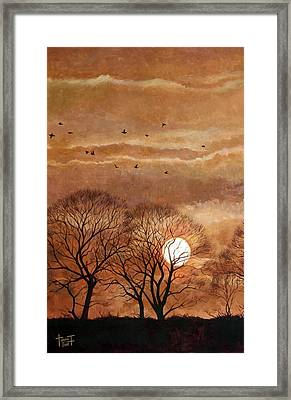 Sunset, Windsor, 2010 Framed Print by Cruz Jurado Traverso