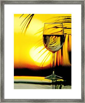 Sunset Wine Framed Print by Jon Neidert