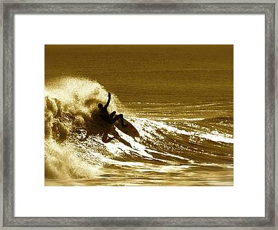 Sunset Wipeout Framed Print